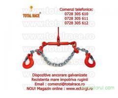 Dispozitiv complet lant ancorare galvanizat  8 mm 4 tone lungimi la cerere