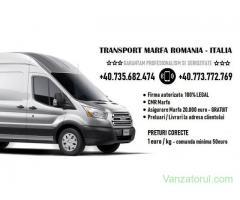 Transport Marfa Romania Italia - Colete Pachete Mobila Termopane