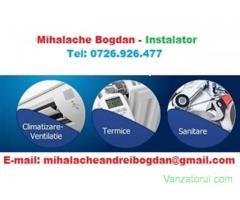 Lucrari de Instalatii Sanitare-Termice si Aer Conditionat