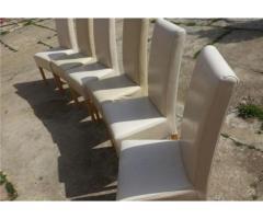Vand 6 scaune piele