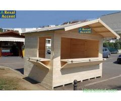 Chioscuri comerciale din lemn, Casute Targ