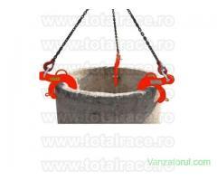 Lanturi cu 3 ramuri si clesti ridicat tuburi sisteme de canalizare